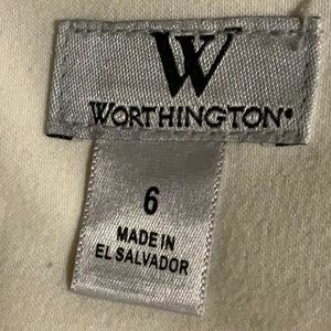 Worthington Skirts - High Waisted Ivory/Cream Pencil Skirt with Lining